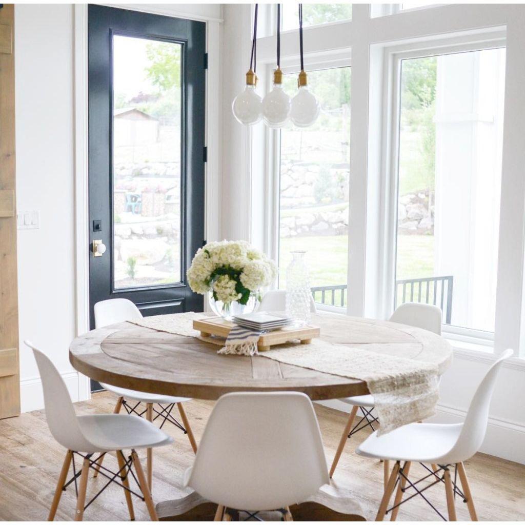 Salle A Manger Retro chaises design tendance rétro bois chaise de salle à manger - noir et rouge  importation