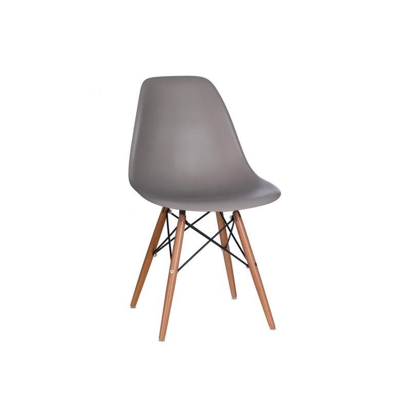 Chaise bacquet vintage gris foncé style rétro scandinave 46,50 X 45 X 81,50 CM IMPORTATION